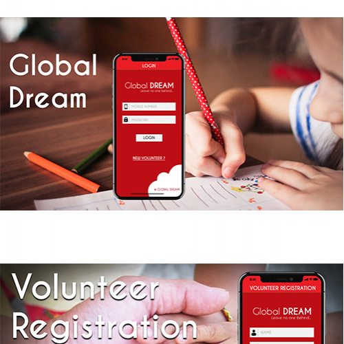 An Education Related Application UI was created for Glo