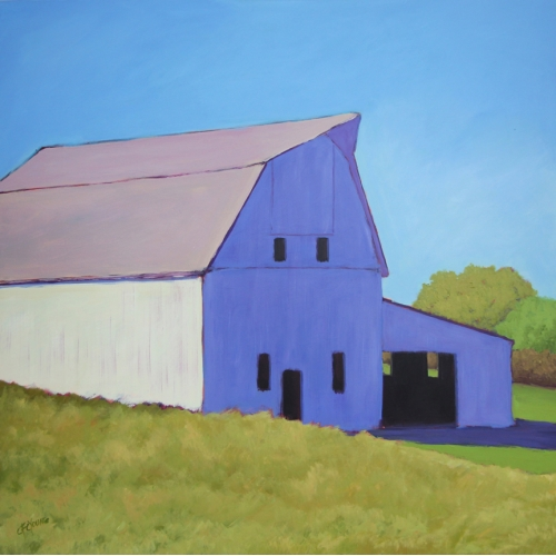 Over the Hill, Barn Painting