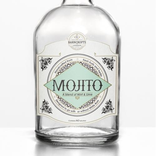 Classic, Luxurious Bottle Label Design