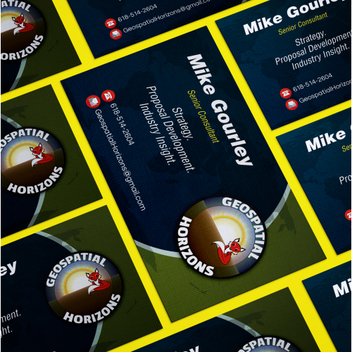 Business Card Design - Geospatial horizons