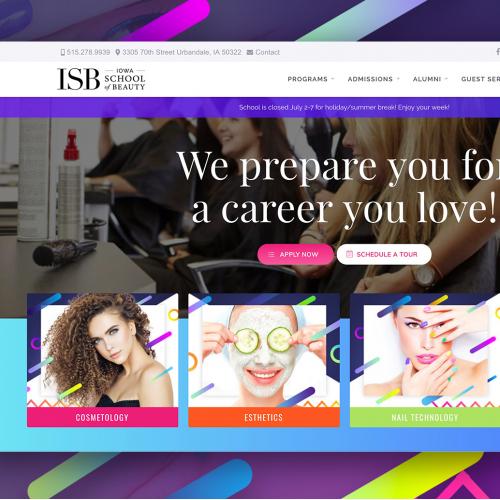 Iowa School of Beauty | Branding
