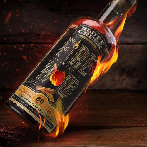Fire in the Hole Cinn. Vodka   Bluff Creek Distillery