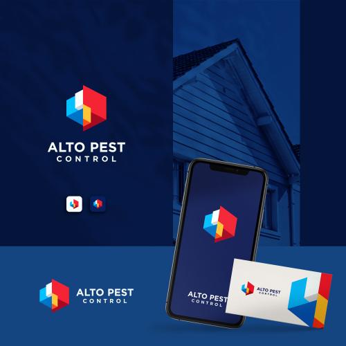 Home improvement logo design for Alto Pest