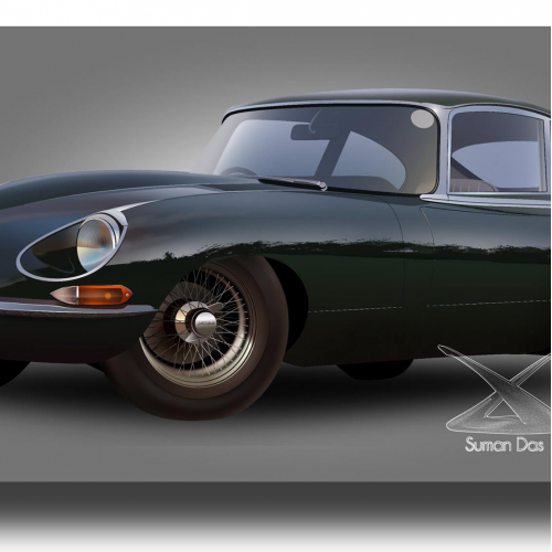Jaguar e type illustration in adobe illustrator