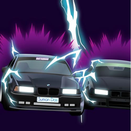 BMW Super Saiyan illustration