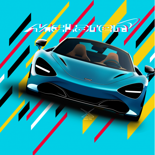 McLaren 720S spider illustration