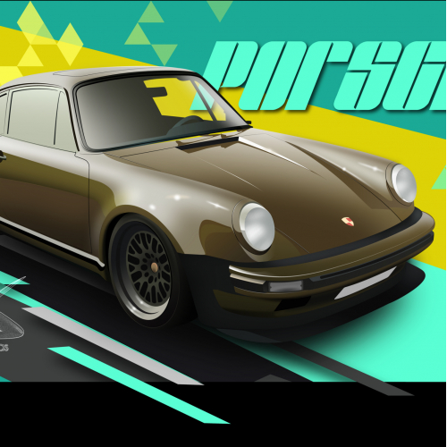 Porsche 930 illustration