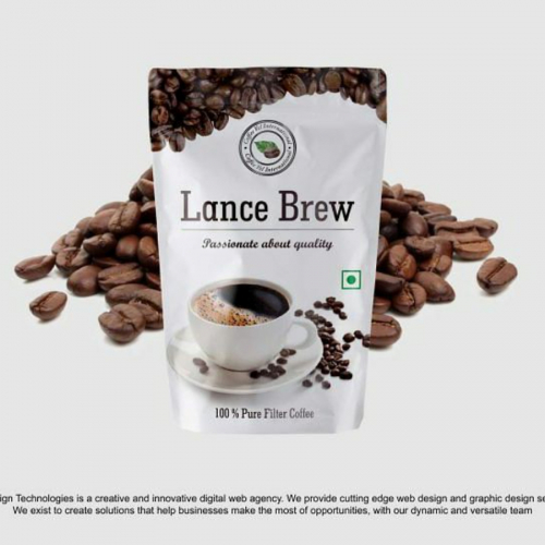 Standup Pouch Design for Lance Brew Coffee