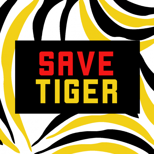 Save Tiger : T-Shirt Design