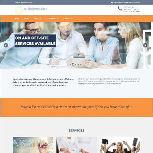 Financial Management Website Design
