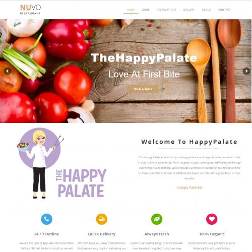 The Happy Plate Cheff Website Design