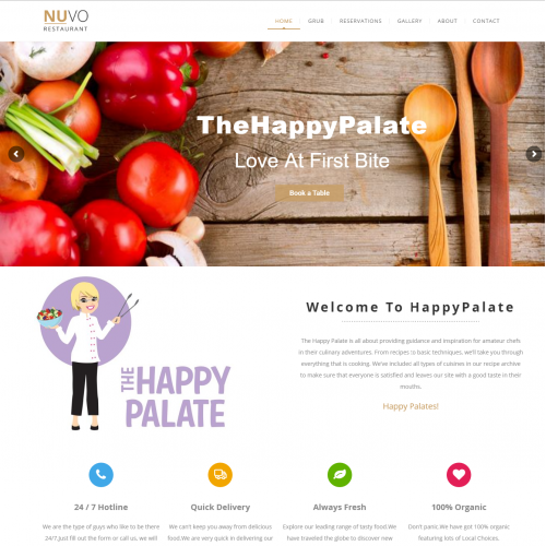The Happy Plate Cheff Website Design