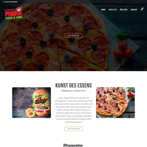 Phone Pizza Wok - Food Ordering Website