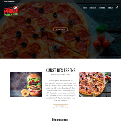 Phone Pizza Wok - Food Ordering Website