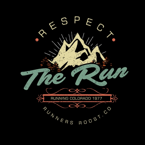 The run T-shirt design Vintage