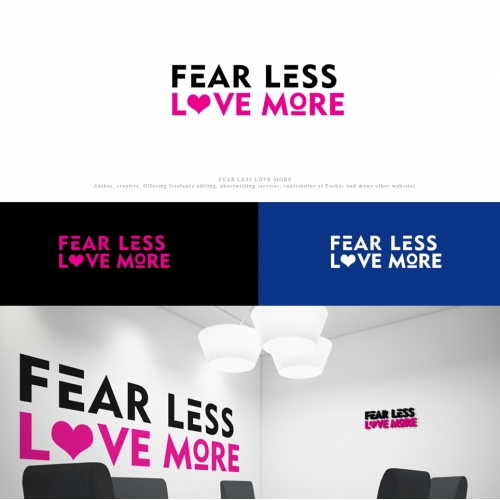 FEAR LESS LOVE MORE logo