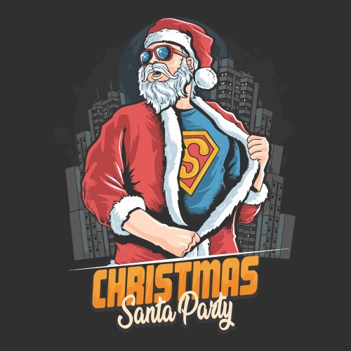 Super Santa Claus T-Shirt design