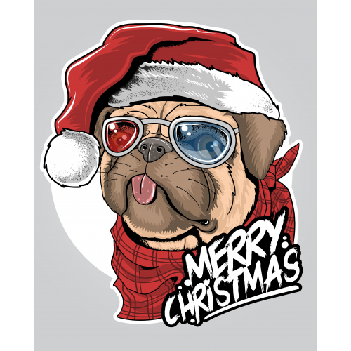 Pub Puppy Dog Santa Claus