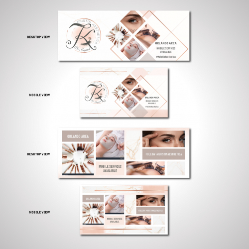 Facebook Cover design options for Kristin Aesthetica