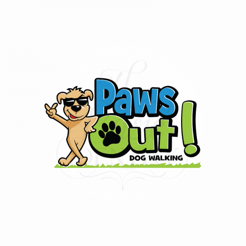 Logo and character design for Paws Out!
