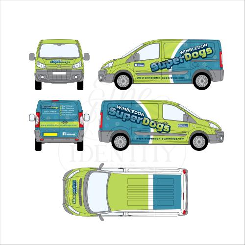 Car wrap design for Wimbledon Superdogs