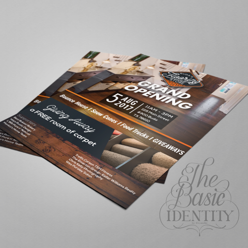 Brochure Design for Buda's Flooring Texas