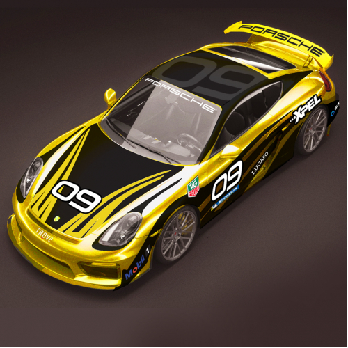 Porsche GT4 Race Car concept design