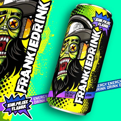 energy drink label deign