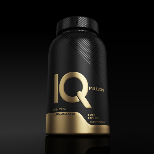 IQ million label design