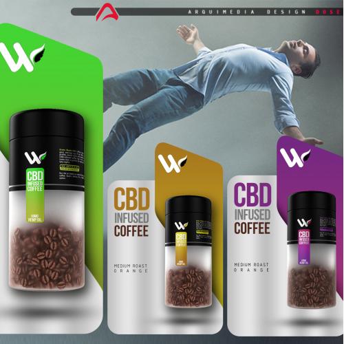 cbd coffee brand design