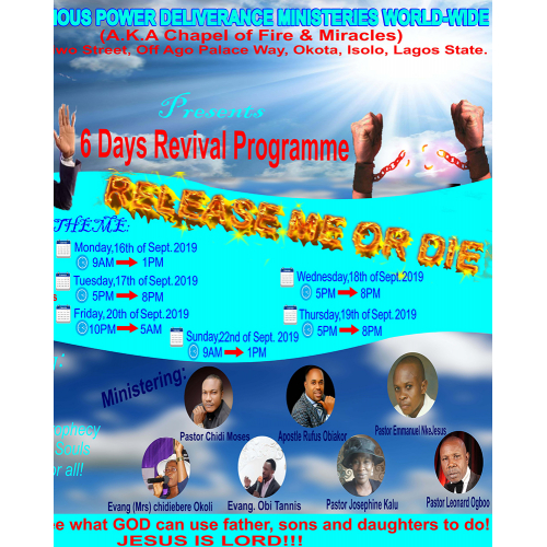 Glorious Power Ministries Flyer design