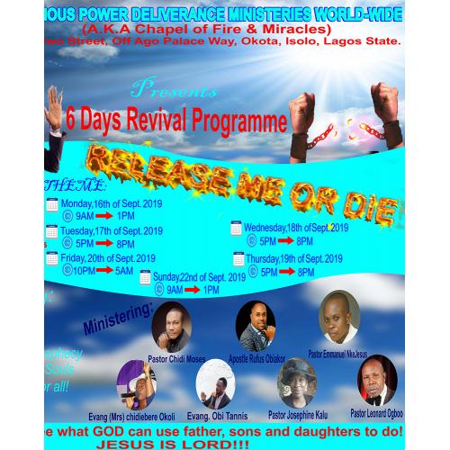 Glorious Power Ministries Flyer design