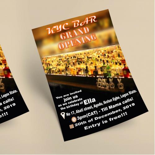 KYC bar opening flyer