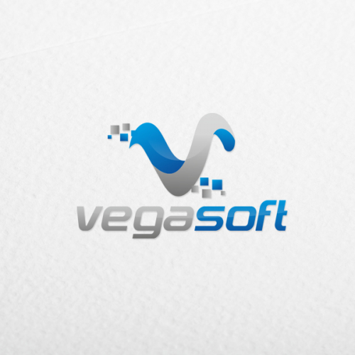 vegasoft software logo design