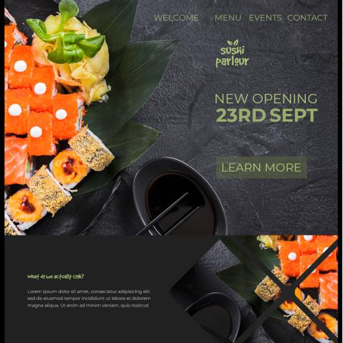 restaurant website design professional