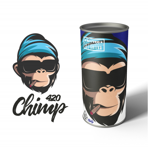 Chimp420 Logo and Product Packaging Design