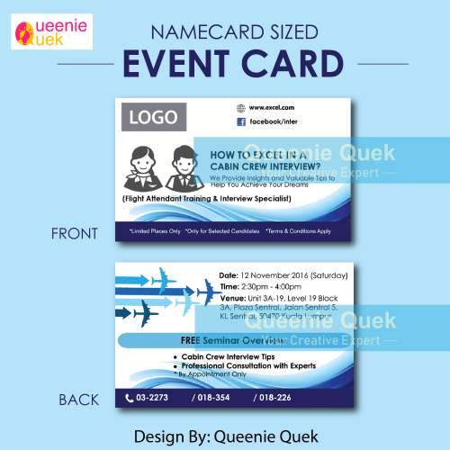 Event Card for Cabin Crew Workshop