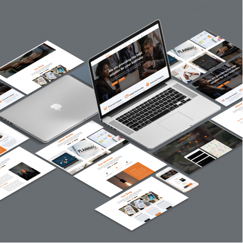 Business web ui design
