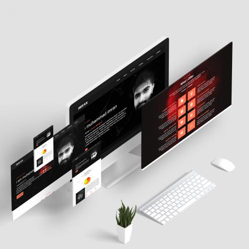 Portfolio web ui design