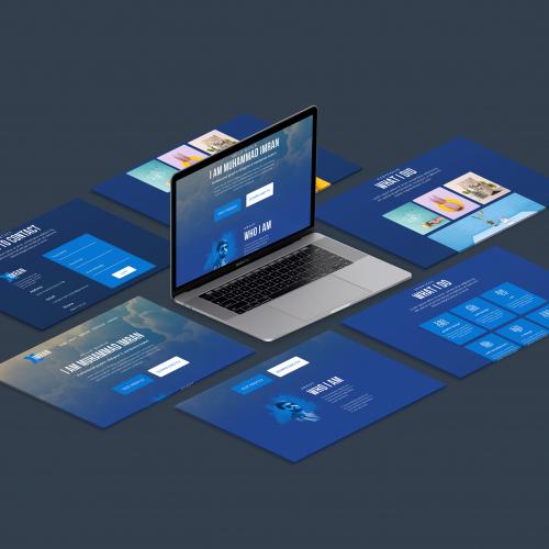 Portfolio website ui design