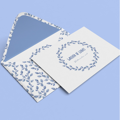 Watercolor envelope design