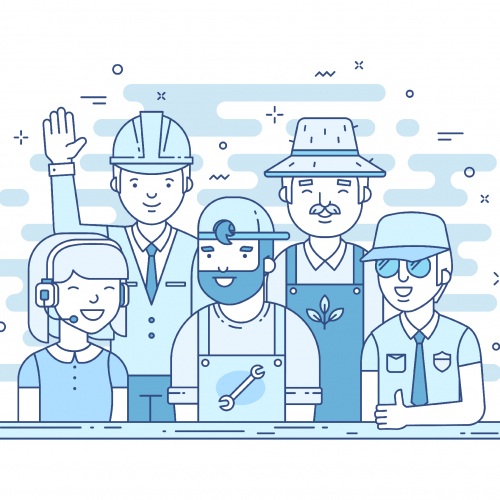 Services illustrations for web-site