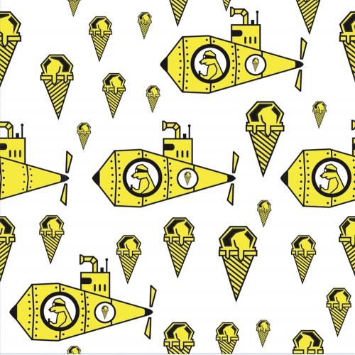 Glace' Frozen Artisanal Pattern for Facebook Banner