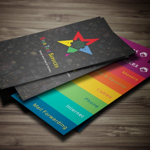 Business Card Design- Star Tree Services