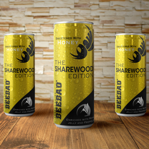 Energy Drink  Can Wrap BEEBAD SHAREWOOD EDITION