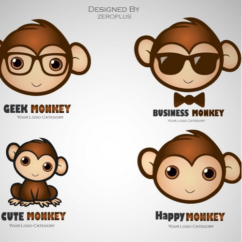 4 Monkey Logo Collection