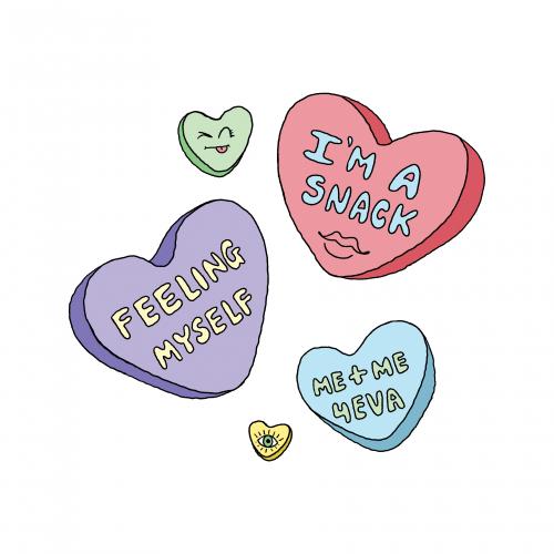 SELF LOVE CANDY HEARTS