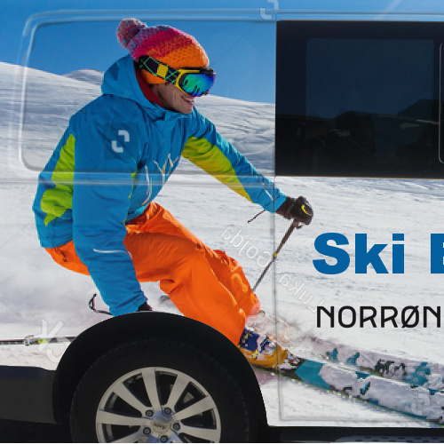 vehicle wrap for a ski company in France