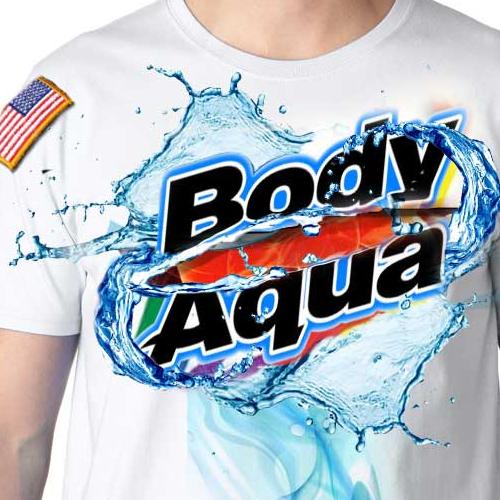 T-shirt design for a military aqua water