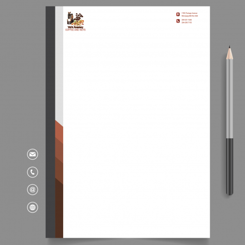 Coffee shop Letterhead Design